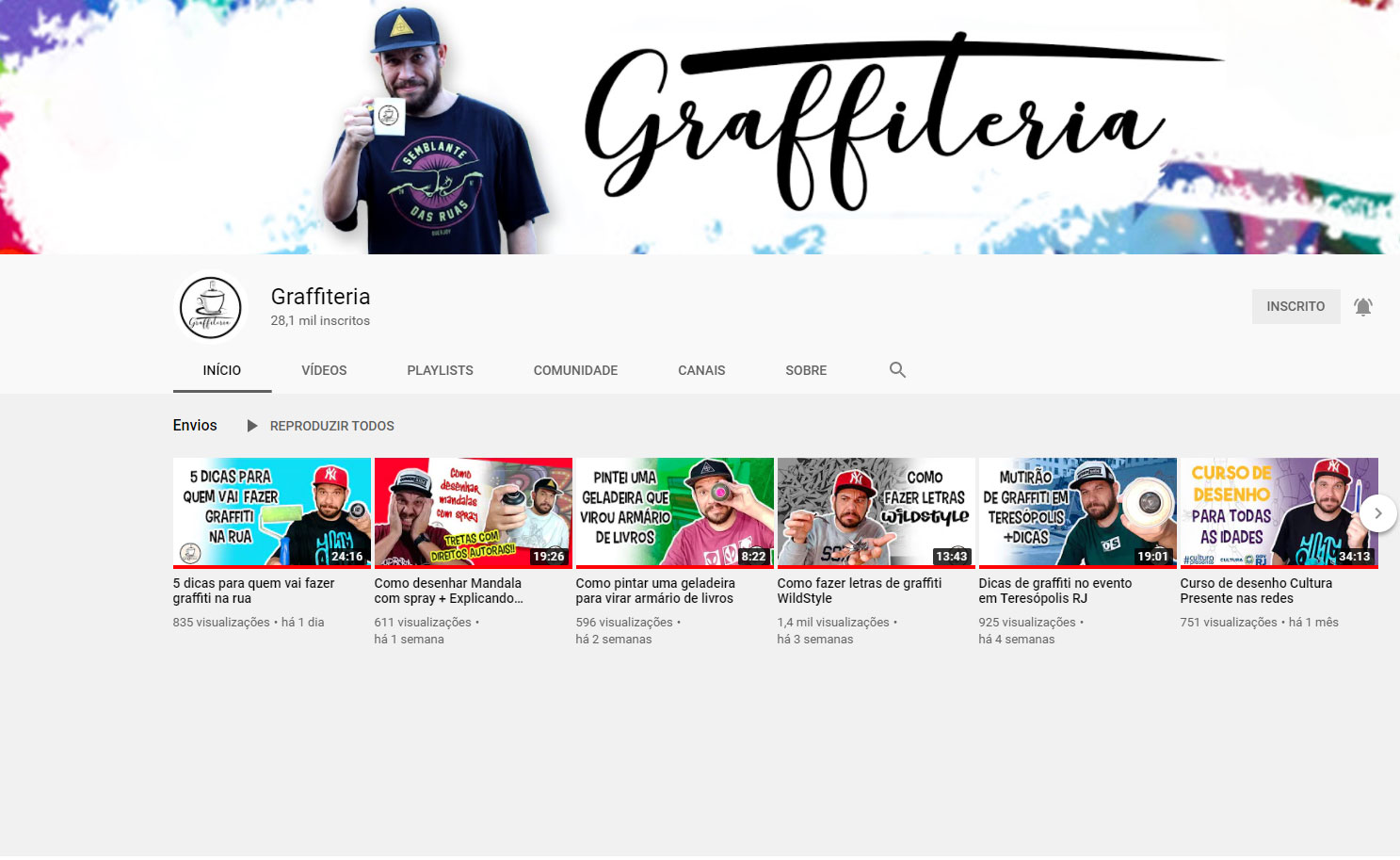 Youtube canal Graffiteria